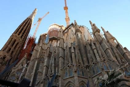 Basilica de la sagrada familia apse facade barcelona spain