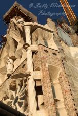 building Glory Facade Basilica de la Sagrada Familia Barcelona Spain