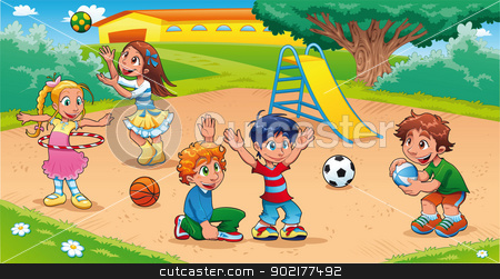 Lukisan Taman Permainan Kanak Kanak