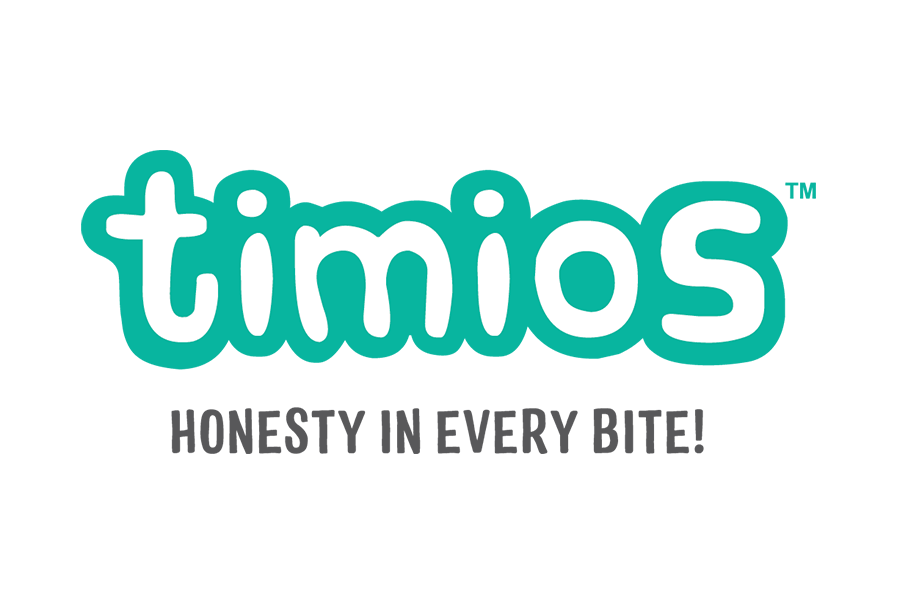 timios Logo with tagline A Honesty in Every Bite!