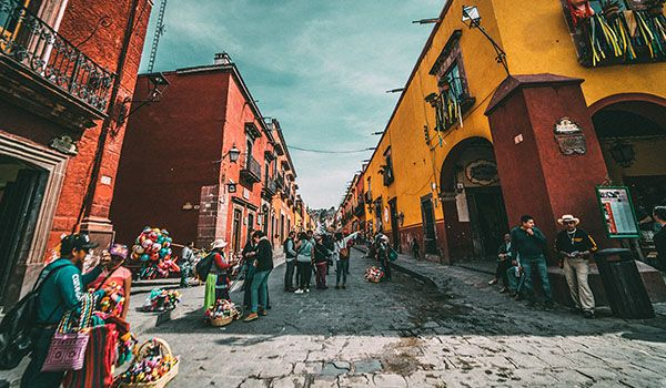 A typical Mexican neighborhood. Salman Ravoof is in Oaxaca City in 2019.