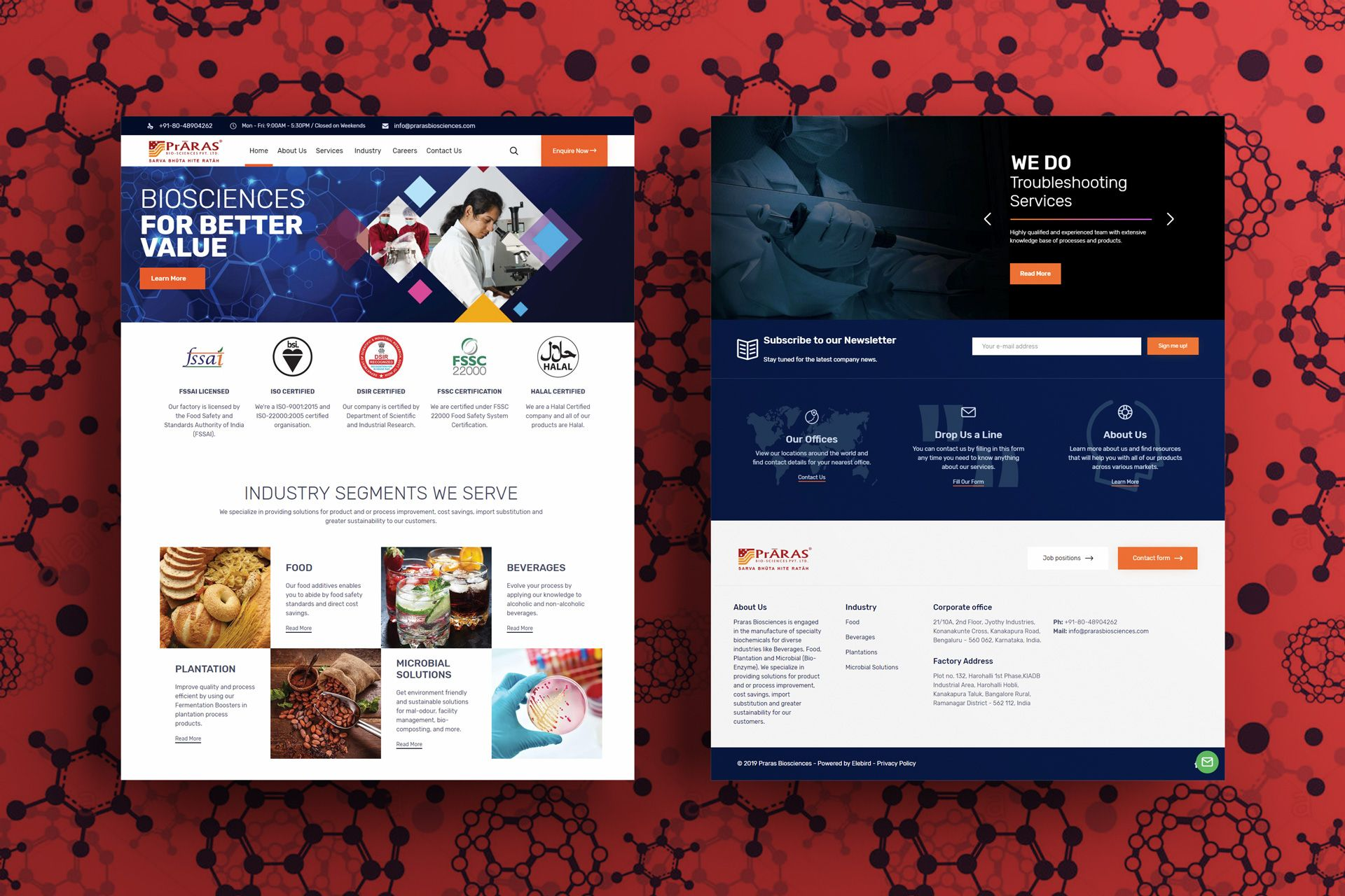 Praras Biosciences Website Screens Mockup – Salman-Ravoof – Homepage