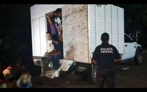 Halla PF en Veracruz a 43 migrantes hacinados en camión/…