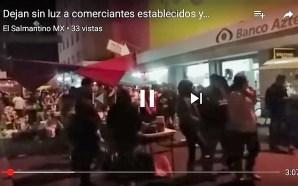 DEJAN EN LA OSCURIDAD A COMERCIANTES EN PLENA FESTIVIDAD A…