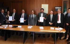 Firman convenio de colaboración el IEEG, INE y Colegio Estatal…