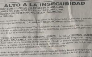 INCUMPLIMIENTO E INCAPACIDAD PARA FRENAR LA INSEGURIDAD, RECLAMAN CIUDADANOS A…