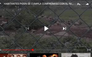 HABITANTES PIDEN QUE CUMPLA EL COMPROMISO DEL RELLENO SANITARIO