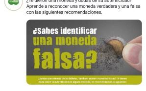 ¡ALERTA! CIRCULAN MONEDAS FALSAS, APRENDE A RECONOCERLAS.