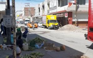 PERFORACIONES POR OBRAS EN EL CENTRO, YA HAN CAUSADO ACCIDENTES…
