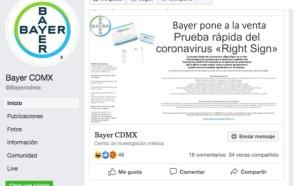 #Precaución POR INTERNET VENDEN FALSA PRUEBA PARA DETECTAR COVID-19.