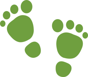 cropped green footsteps 1