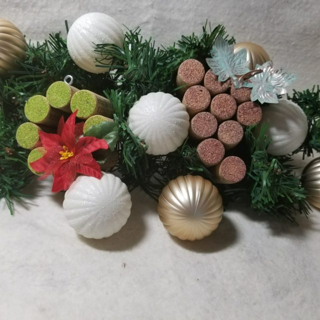 Wine cork ornaments display