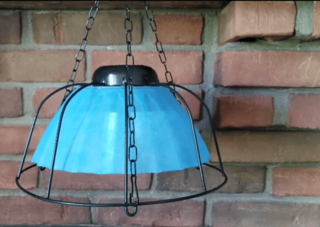 Finished solar hanging light