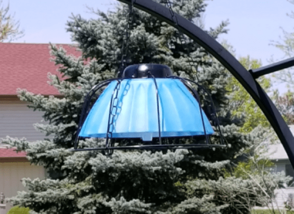 Solar Hanging Light w/ Dollar Tree items