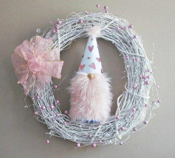Valentine's Day Gnome Wreath
