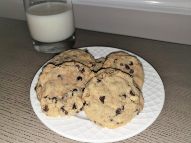 Toffee Chip Cookies Made with Mini Chocolate Chips