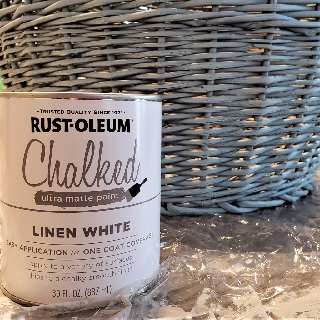 Wicker Basket with Rustoleum Chalked Paint