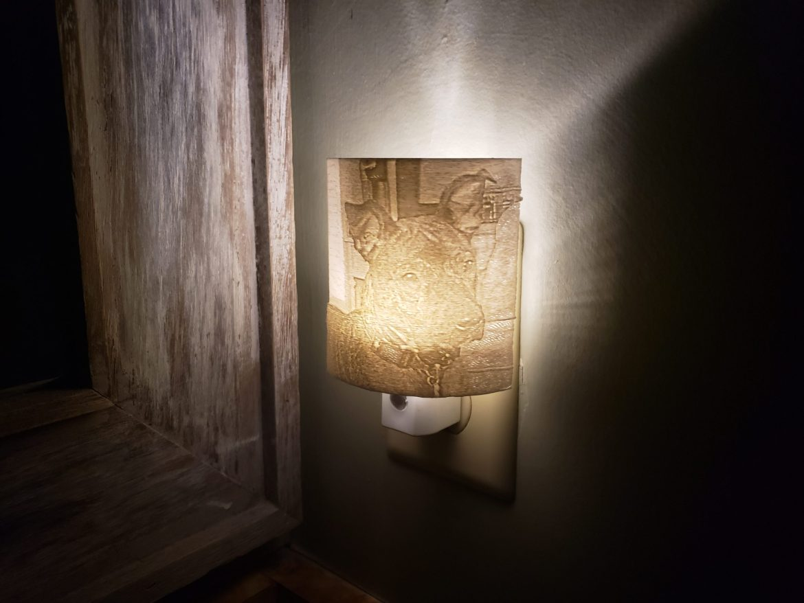 Easy 3D Lithophane Nightlight with Silhouette Alta