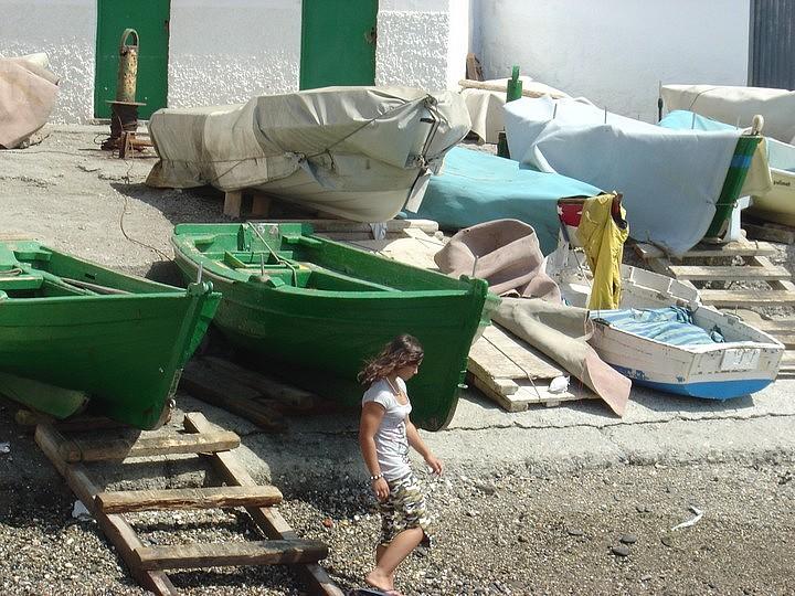 Boat launching spot in La Caleta