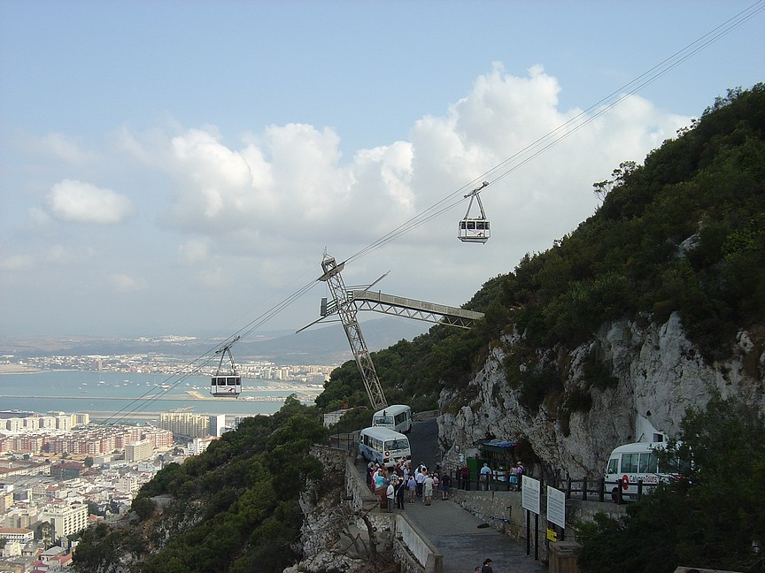 Fortunately, you can also take a cable car up the rock to the top.