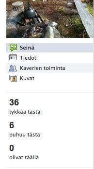 Facebook-sivun tunnusluvut