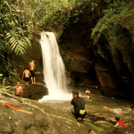 Waterfall swim in the heart of the Borneo rainforest included in your tour/ package