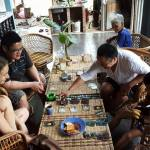 Time to play cards at Salomavillagestay in the heart of the Borneo Jungle