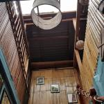 Salomavillagestay tree house staircase view in the heart of the Borneo jungle