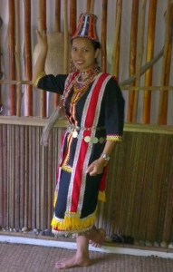Gayak dayak traditional costume