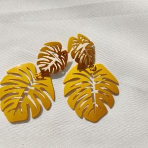 Oorbellen tropical geel