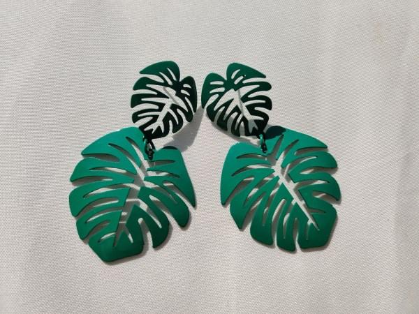 Oorbellen tropical groen