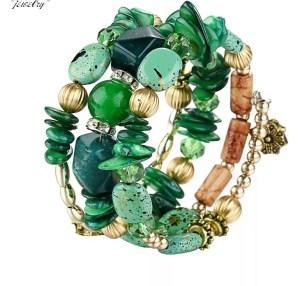 Armband bohemian groen