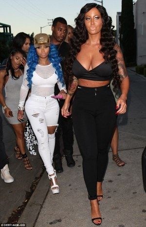 amber rose, blac chyna, wigs, wigs