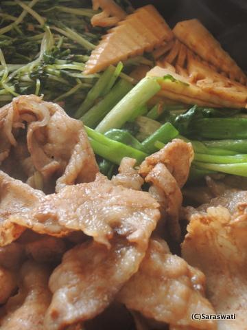豚と筍のすき焼き