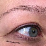 Traditionele eyeliner boven na