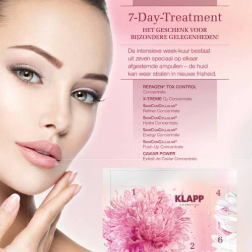 Klapp 7 dagen treatment Salon Cosmetique YRVG