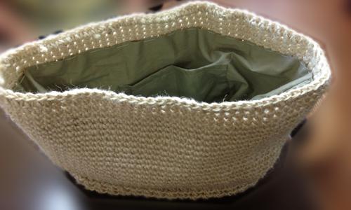 生徒の手編みバック