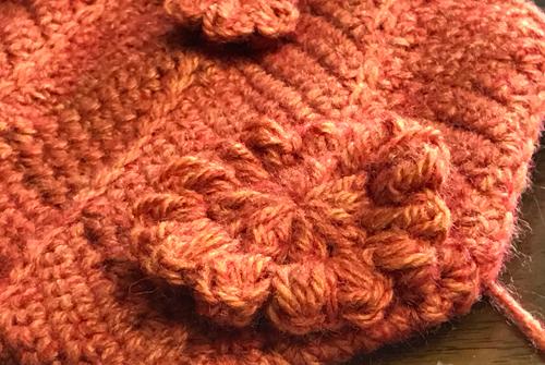 細編みでドミノ編みをしてみました