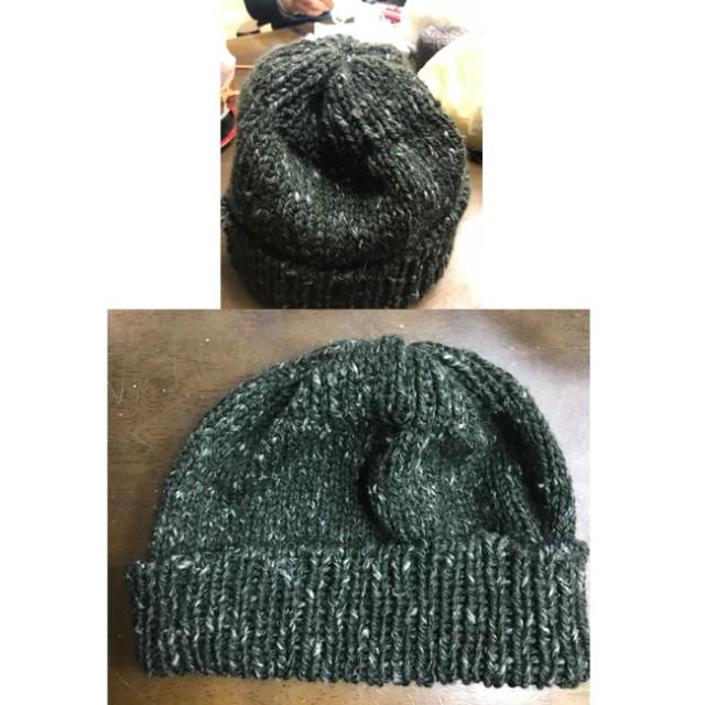 Sさんニット帽が完成いたしました。