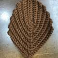 生徒さん、久しぶりの編み物でアクリルタワシを編みました。