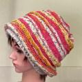 棒針で編むニット帽生徒作品