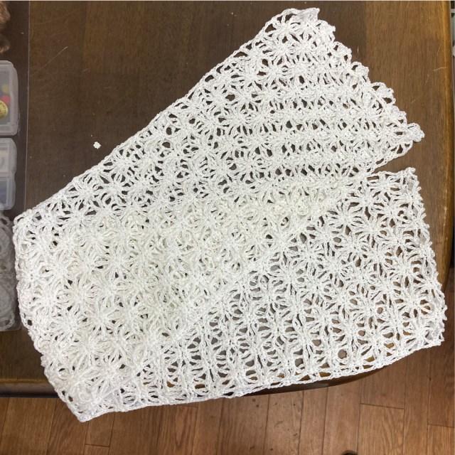 生徒作品かぎ針編みのストール