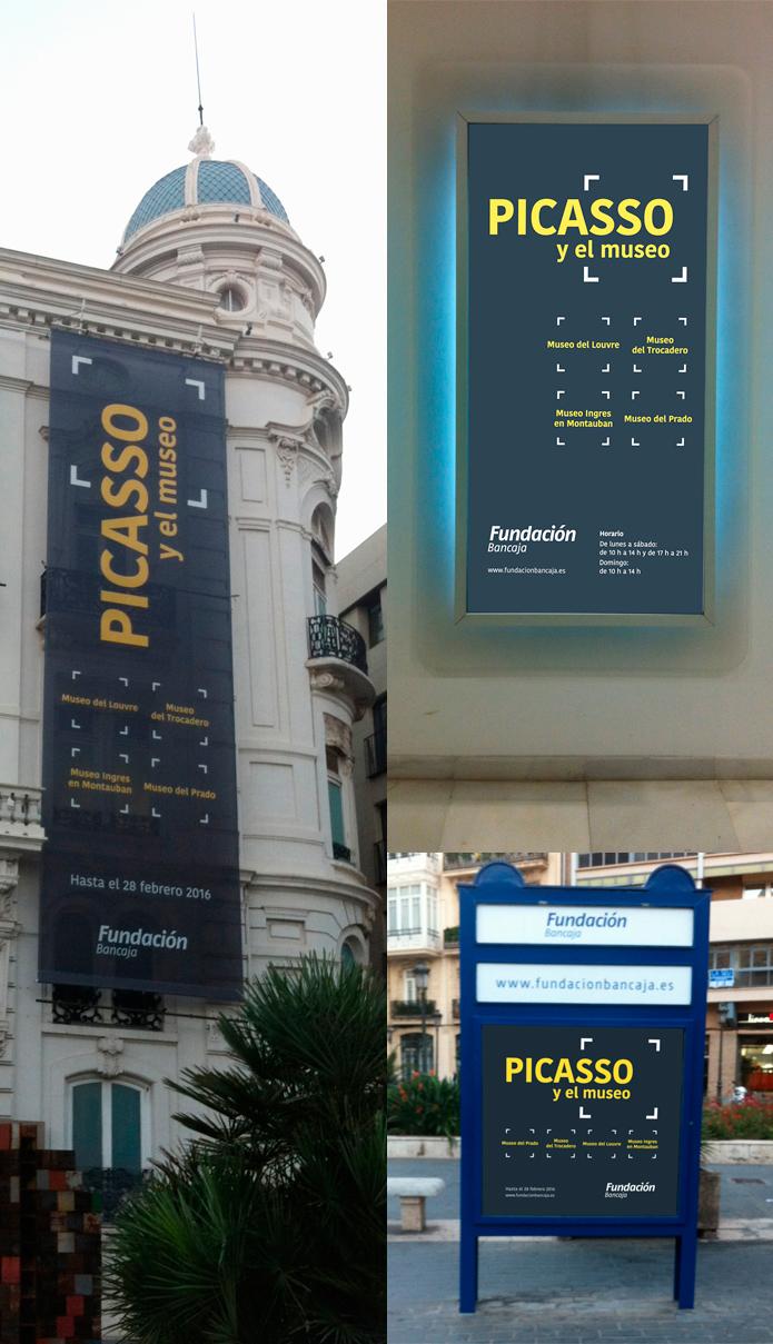 Picasso i el museu, gràfica exterior