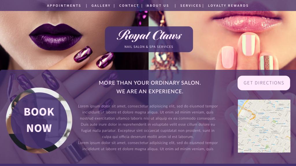 Nail Salon Web Site Design