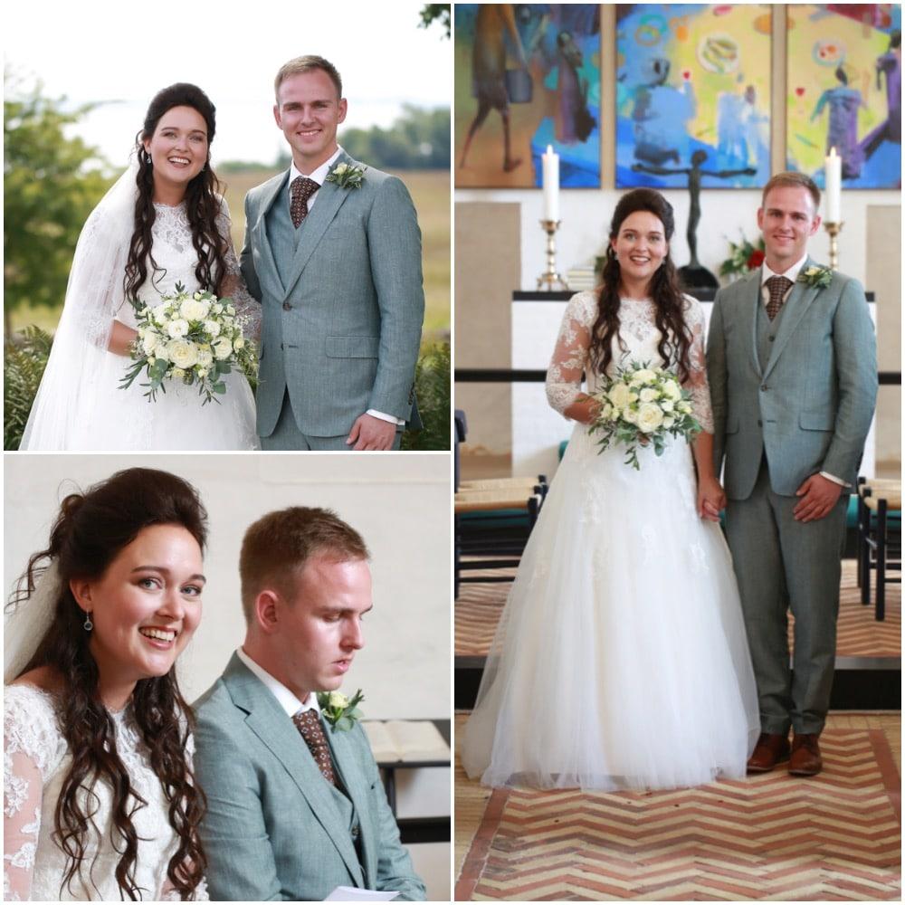 Opsætning til bryllup hos Salon Tiffany i Brovst, Nordjylland