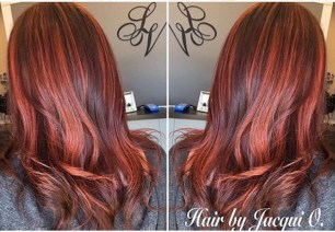 Multi-tonal Copper Balayage by Stylist Jacqui Barr