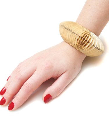Handmade Original Jewellery Paper Bracelet Solitary Vintage Cream by Saloukee Lifestyle