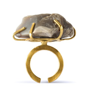 Handmade Limited Edition Jewellery Handcrafted Ring Ela Rock by Saloukee Front View