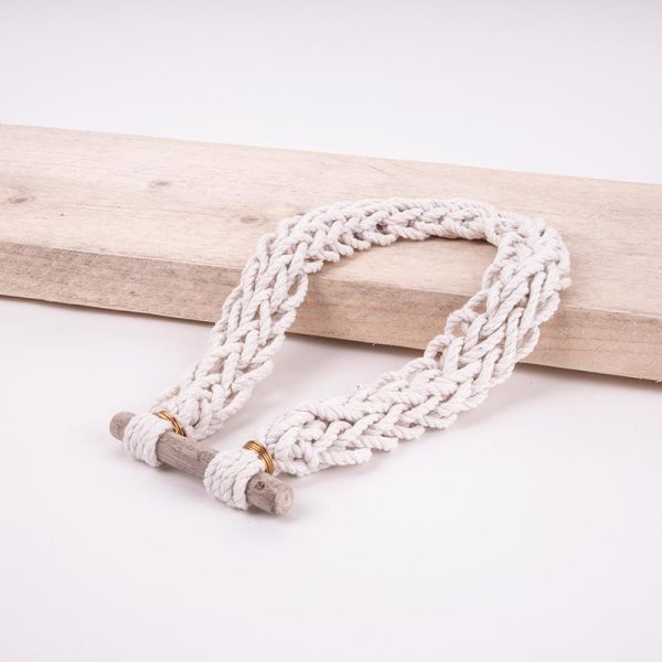 knotted beach necklace handmade
