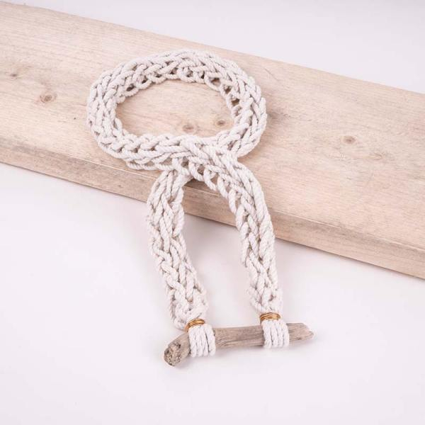 knotted rope necklace long